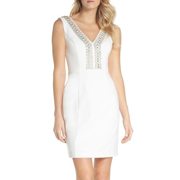 Eliza J ivory beaded dress brand new